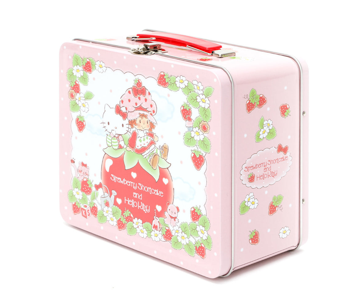 Sanrio Hello Kitty × Strawberry Shortcake Metal Lunchbox Front