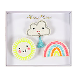 Meri Meri Weather Faces Brooches Set of 3