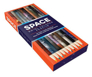 Space Swirl Colored Two-Tone Pencils Featuring Photos from NASA