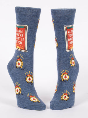 Alarm, You're A Little Bitch Women's Crew Socks - PIQ
