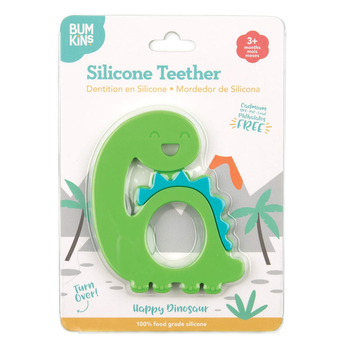 Dino Silicone Teether by Bumkins