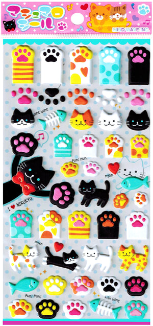 Mind Wave Paws Stickers Kitty Cat Kitten