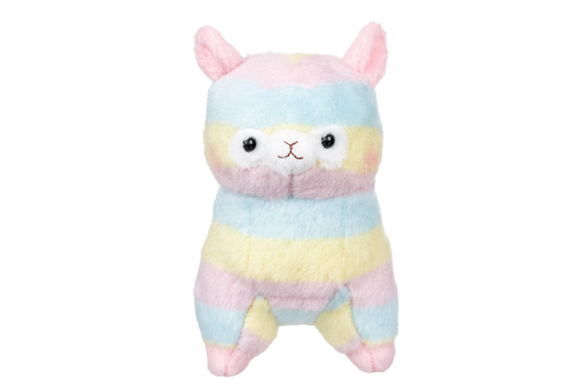 Plush Rainbow Alpaca Keychain by Amuse