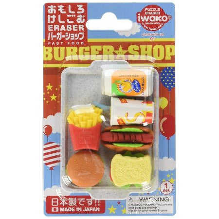 Iwako Fast Food Puzzle Eraser Set