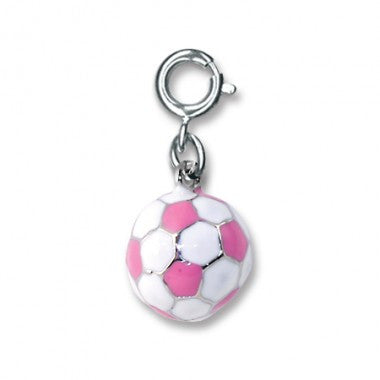 Charm It - Pink Soccer Ball Charm