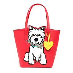 Marc Tetro Westie NYC Cutout Tote with Dangle