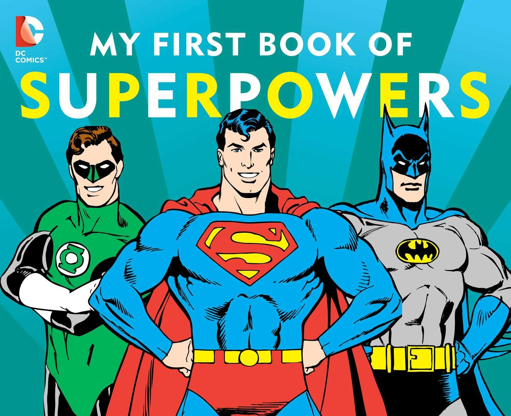 Books Piq Hey Baby My Frist Book Softbook Dc Super Heroes First Of Superpowers Board