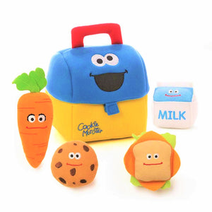 Gund Sesame Street Cookie Monster Plush Lunch Box Playset