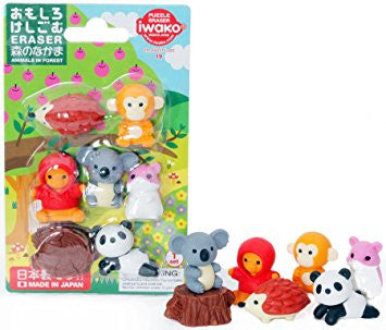 Iwako Kawaii Animal Puzzle Eraser Set