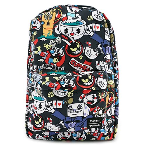 Loungefly x Cuphead All Over Characters Print Backpack