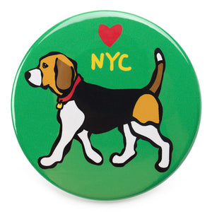 Marc Tetro NYC Beagle Magnet  by Marc Tetro