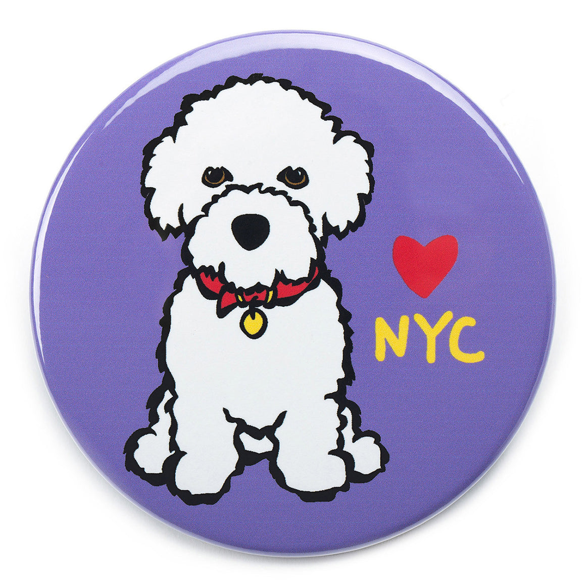 Marc Tetro NYC Bichon Magnet  by Marc Tetro