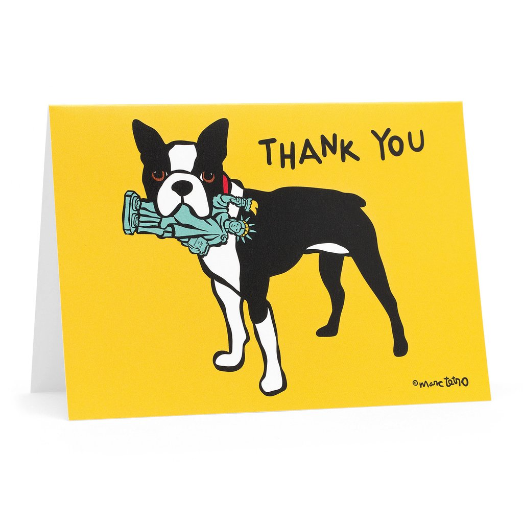 Marc Tetro Boston Terrier Thank You Cards