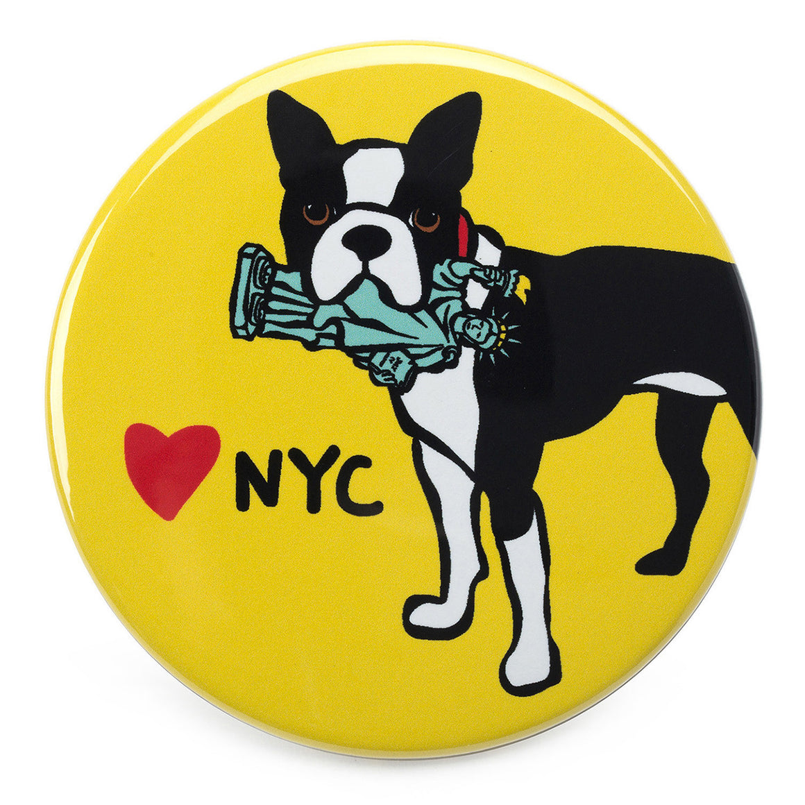 Marc Tetro NYC Boston Terrier Magnet  by Marc Tetro
