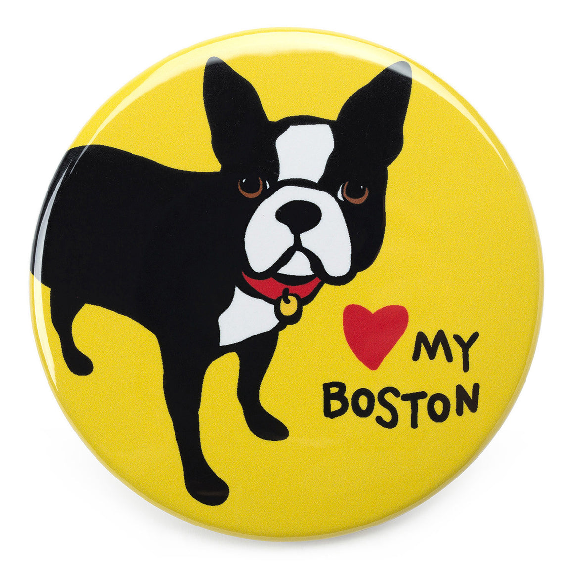 Marc Tetro Love My Boston Terrier Magnet  by Marc Tetro