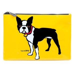 Marc Tetro Boston Terrier Zip Cosmetic Pouch