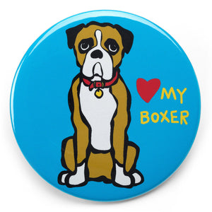 Marc Tetro Love My Boxer Magnet  by Marc Tetro