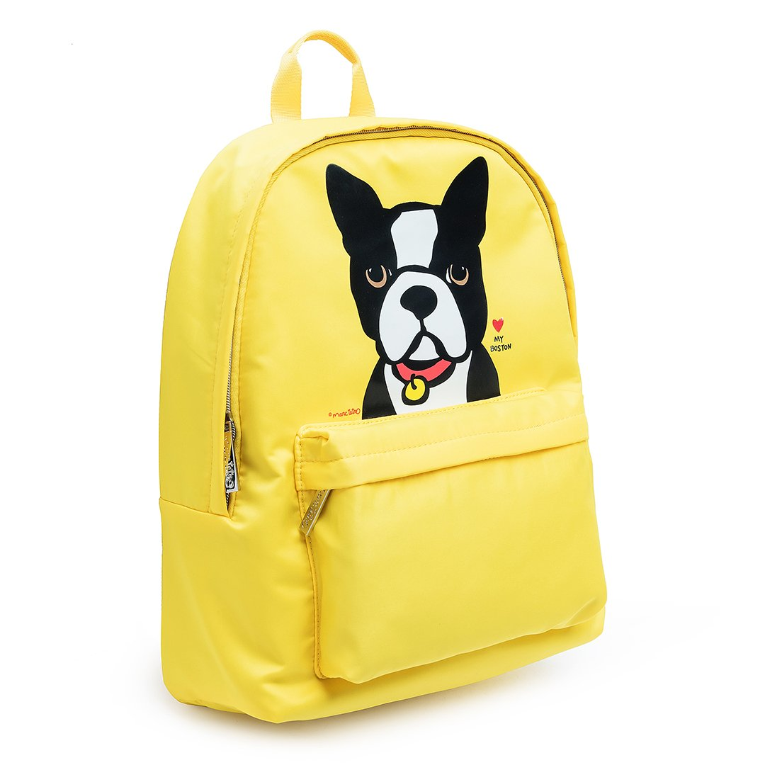 Backpack - Boston Terrier Portrait By Marc Tetro