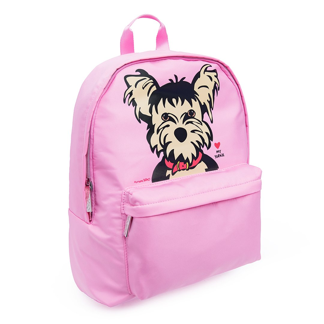 Backpack - Yorkie Portrait By Marc Tetro