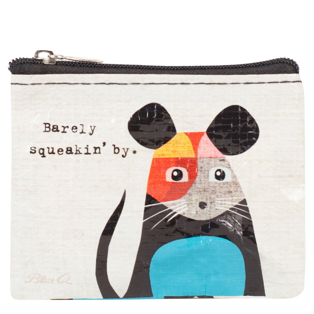 Barely Squeakin' By Coin Purse by Blue Q