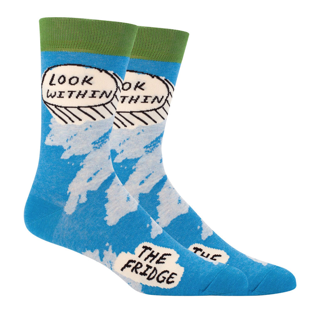 Look Within the Fridge Men's Socks Blue Q
