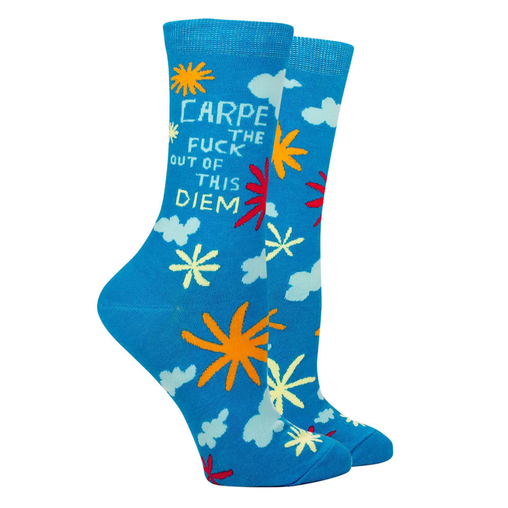 Carpe The F*ck Out Of This Diem Crew Socks  by Blue Q