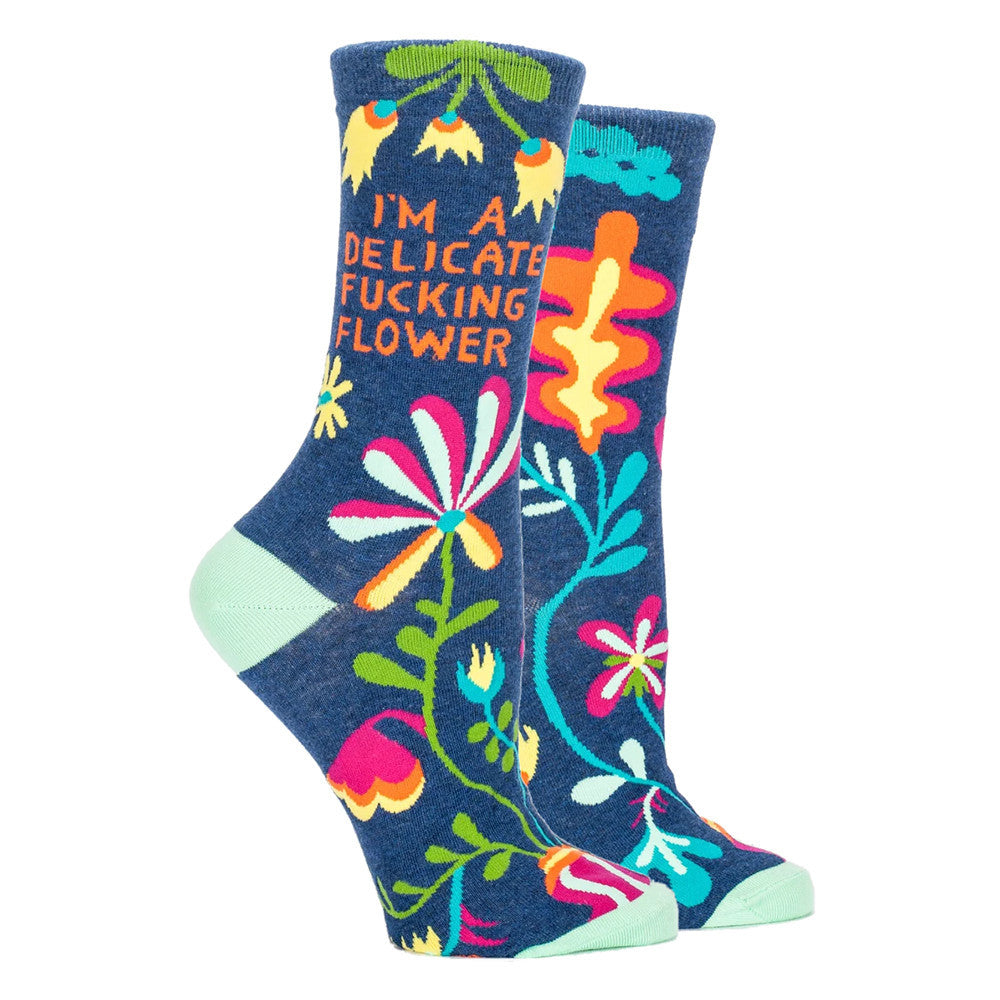 I'm A Delicate F*cking Flower Crew Socks  by Blue Q