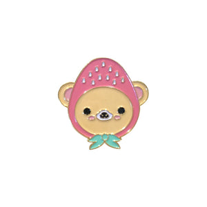 Bored Inc. Strawberry Bear Kawaii Enamel Pin