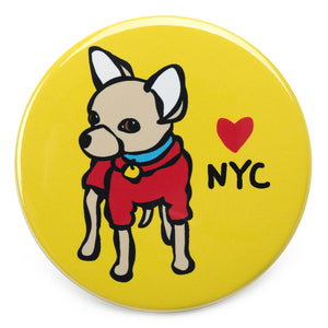 Marc Tetro NYC Chihuahua Magnet  by Marc Tetro