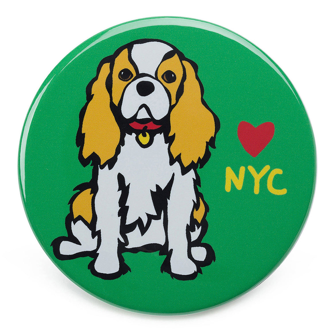 Marc Tetro NYC Cavalier King Charles Magnet  by Marc Tetro