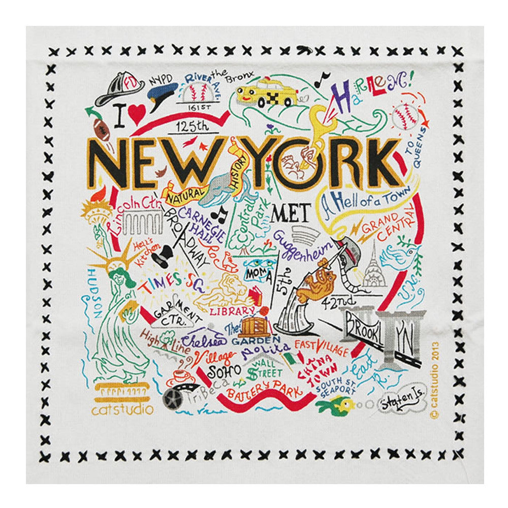 New York City Dish Towel  by Catstudio