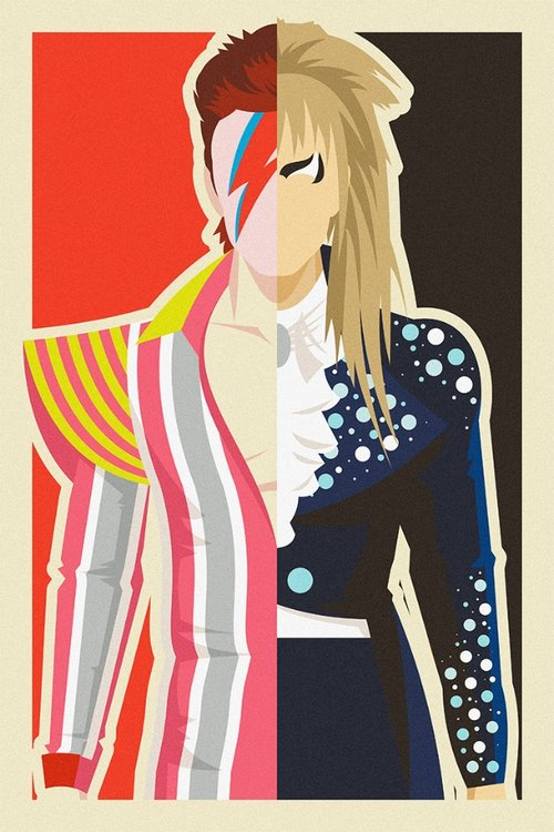 Danny Haas David Bowie / Jiggy Stardust and Jareth Print