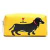 Marc Tetro Dachshund Yellow Zip Cosmetic Case Large