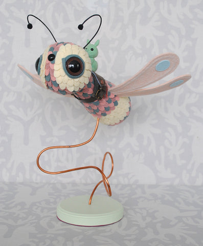 Damselfly Pink by Horrible Adorables - PIQ