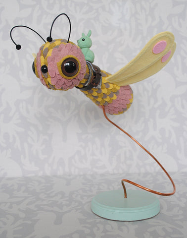Damselfly Yellow by Horrible Adorables - PIQ