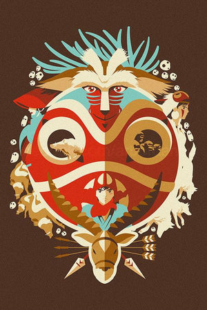 Danny Haas Princess Mononoke / Days of Gods & Demons Print