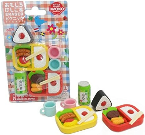 Iwako Bento Lunch Carded Eraser Set