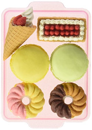 Iwako French Pastry Carded Eraser Set Cruller