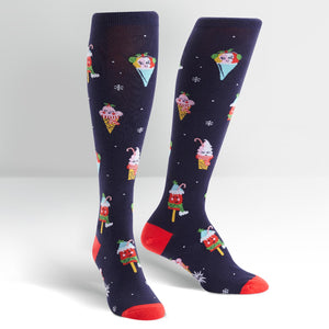Cold Things Being Cold Women's black Knee Socks