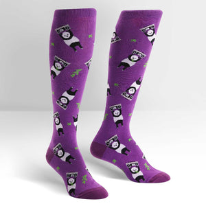 Panda Anything Women's purple Knee Socks