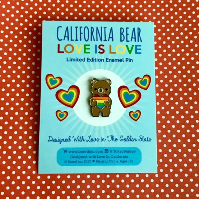 California Bear 'Love Is Love' Enamel Pin