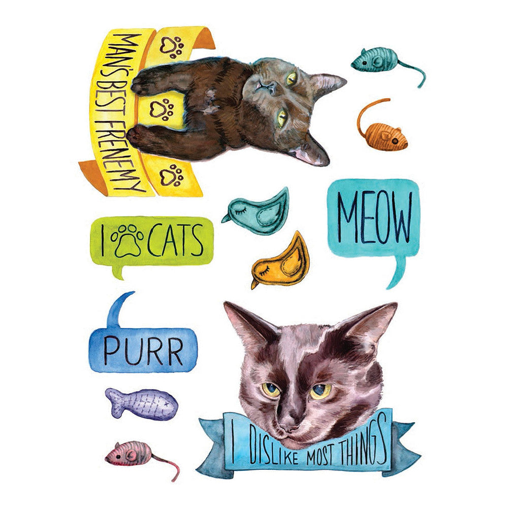 Cattoos! Temporary Tattoos Book  by Hachette - 1