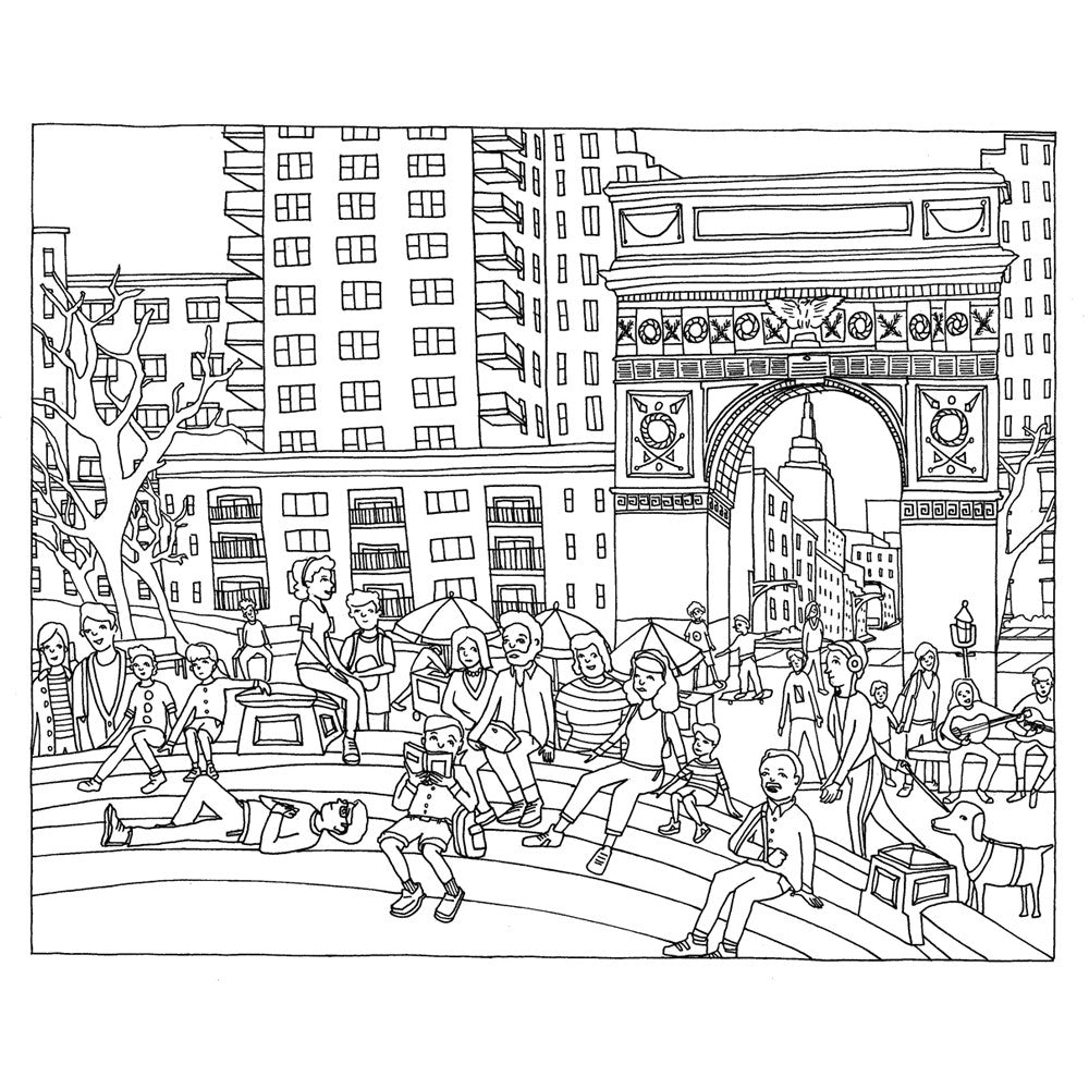 Color This Book New York City Coloring Book