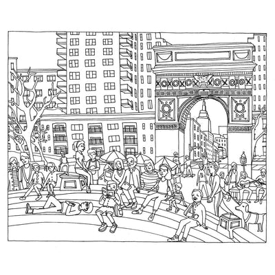 Color This Book New York City Coloring Book Piq