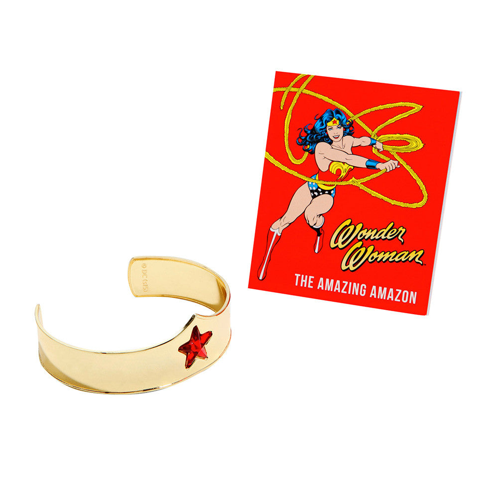 Wonder Woman Tiara Bracelet and Book DC Comics