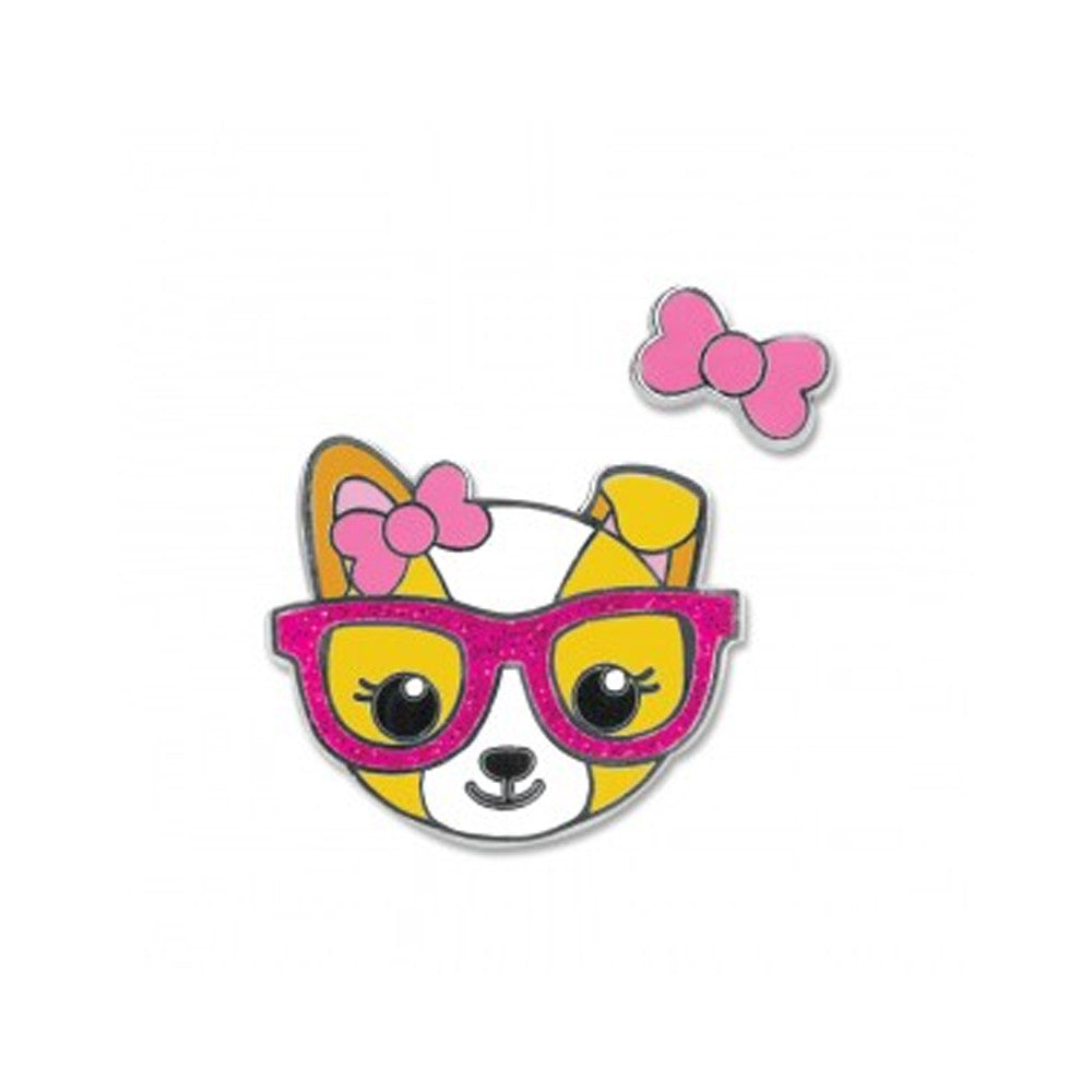 Posh Pup Enamel Pin  by High Intencity