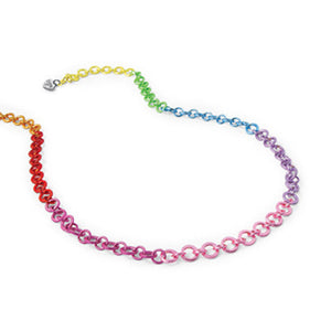 Rainbow Chain Necklace  by High Intencity