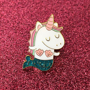 Bored Inc. Mernicorn Teal Glitter Pin - PIQ