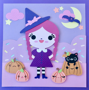 Bored Inc Original Paper Cut Witch