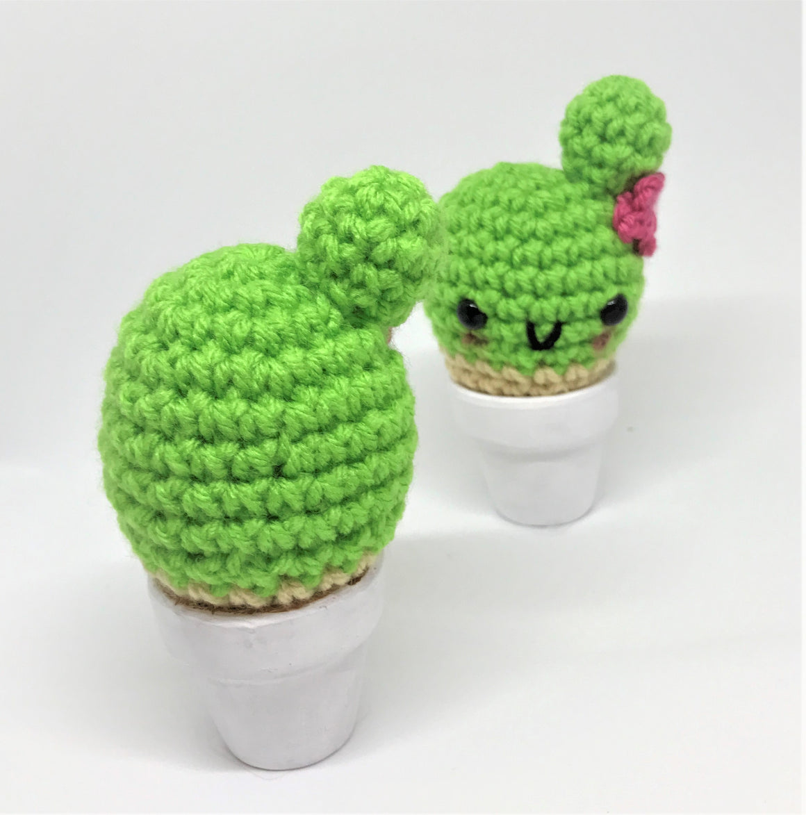 Hand made Knit Kawaii Cactus by Crafty Dork